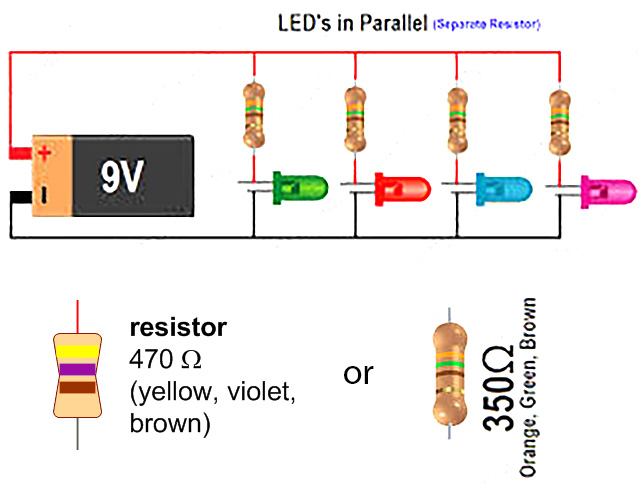 simple led circuit with 9v battery eric j forman teaching rh ericjformanteaching wordpress com Panel Mount LED Indicators 9 volt battery led wiring