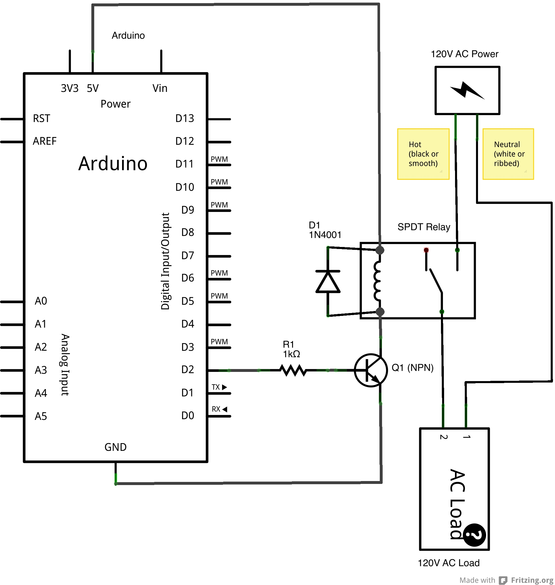 Wiring Diagram For A Spdt Relay : V spdt relay eric j forman teaching